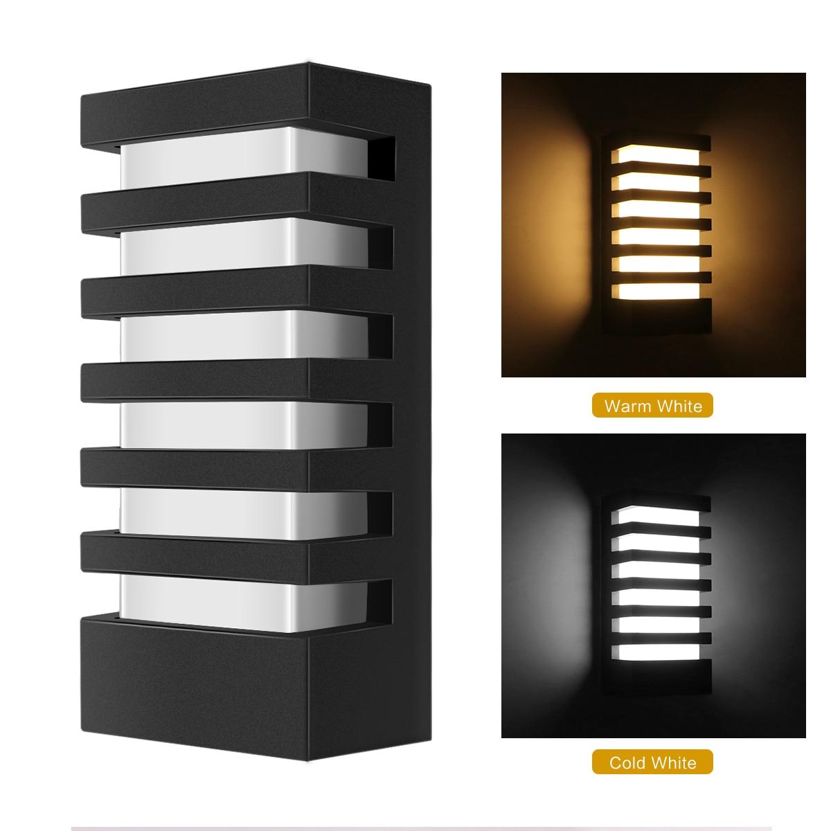 2PCS Modern rectangular body COB 15W LED wall lamp IP65 wall lamp warm white cold white