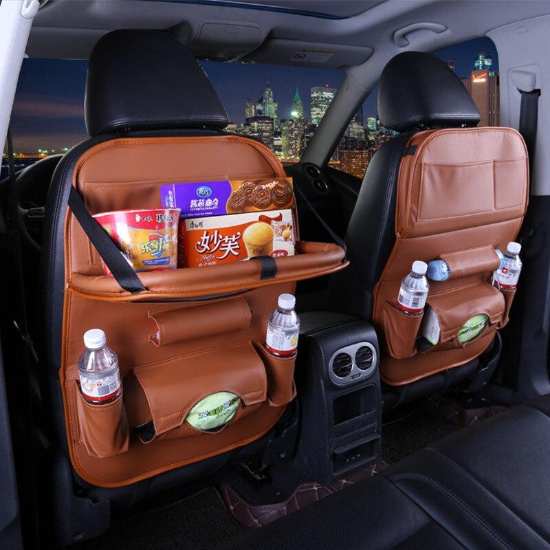 New Car Seat Back Storage Bag Folding Hanging dining table bags for dodge caliber caravan journey nitro ram 1500 2500 intrepid