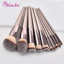 1PCS Wooden Foundation Cosmetic Eyebrow Eyeshadow Makeup Brushes Case Holder Makeup Brushes Natural Hair Soft Makeup Brush Set#7(China)