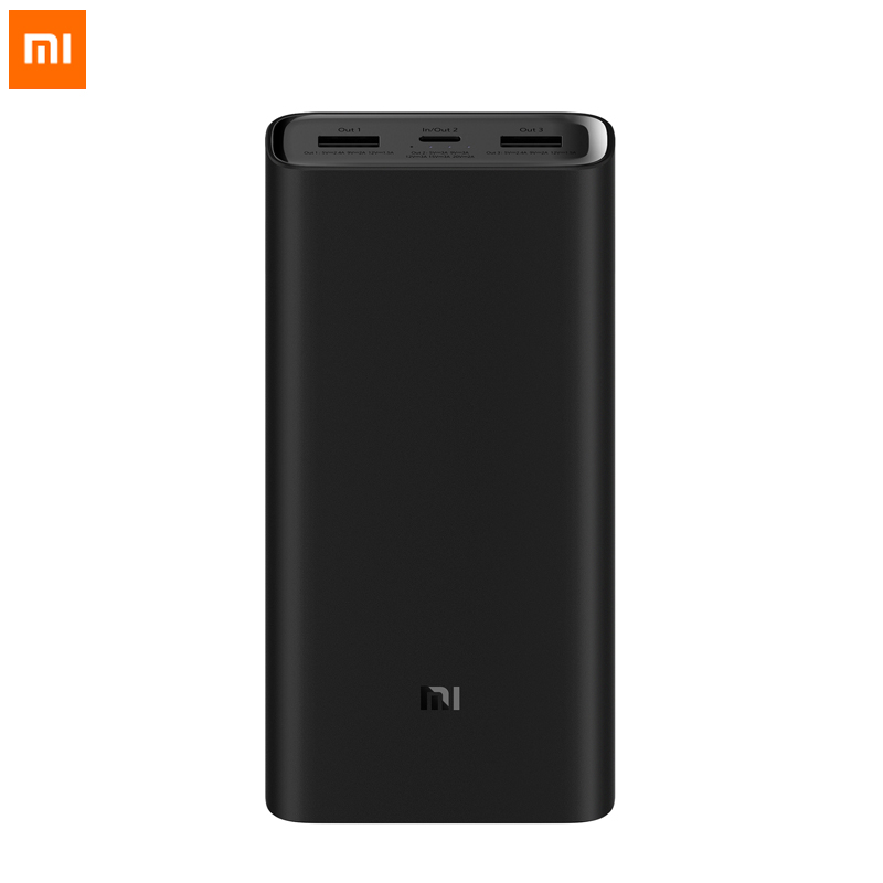 Original Xiaomi Power Bank 3 20000mAh Portable Charger Power Supply Dual USB USB C Two way Quick Charging Mi External Battery