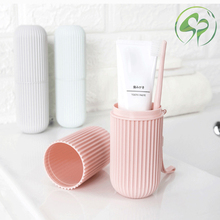 Creative Toothbrush cup Portable Travel Couple Bathroom Cup holder Plastic Toothpaste Storage Box Wash
