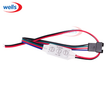 high quality Mini 3key DC 5V RGB Led strip controller with 4pin connector for WS2801 Module