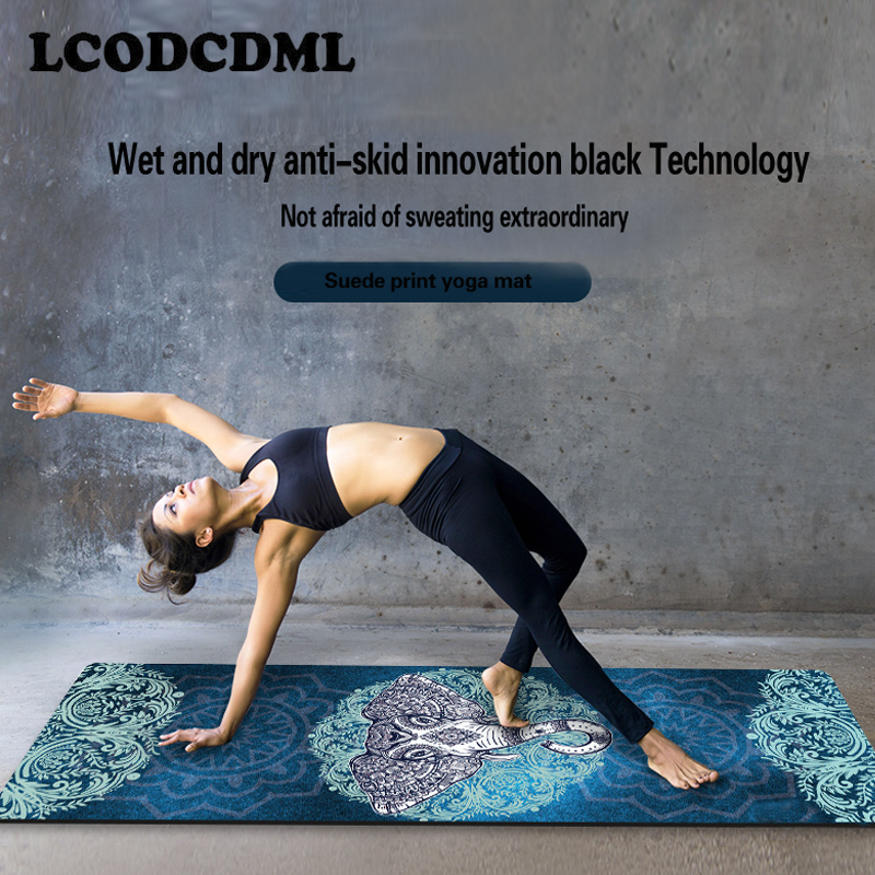 Natural rubber professional yoga mat fitness mat printing non-slip widening folding yoga mat shop towel thin dmasun slip resistant yoga blanket good quality gymnastics yoga mat towel non slip fitness bikram towels