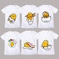 2016 Hot Gudetama fibra de la leche de manga corta camiseta de Anime camiseta del verano hombres de las mujeres Tes de Las Tapas