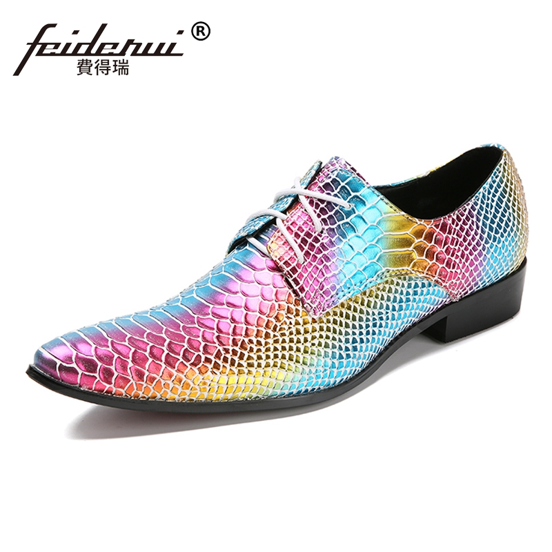 Plus Size New Alligator Pointed Toe Derby Man Runway Footwear Luxury Genuine Leather Handmade Wedding Party Men's Shoes SL28 plus size fashion pointed toe derby man runway footwear italian designer patent leather wedding party men s runway shoes sl435