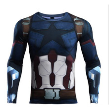 Mens Compression Shirts 3D NEW Spider-Man Jerseys Long Sleeve T Shirt Fitness Men Super hero Gym Tights Avengers Tops Tees