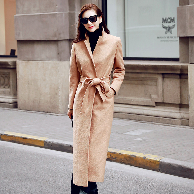 Woolen Coat Women Fashion Winter Coat Women,Casaco Feminino,Over Knee Maxi Coats Wool Coat Winter Jacket Women Long Parkas C2633 womens winter jackets and coats winter jacket women coat manteau femme thickened long casaco feminino inverno abrigos 001