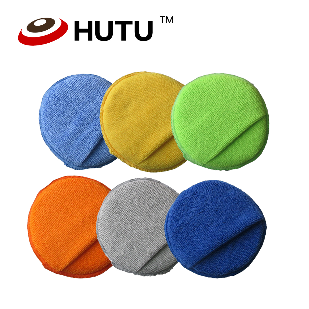 5Inch Colorful Microfiber Compound Sponge Foam Pad For Auto Polisher Wax Applicator Pads