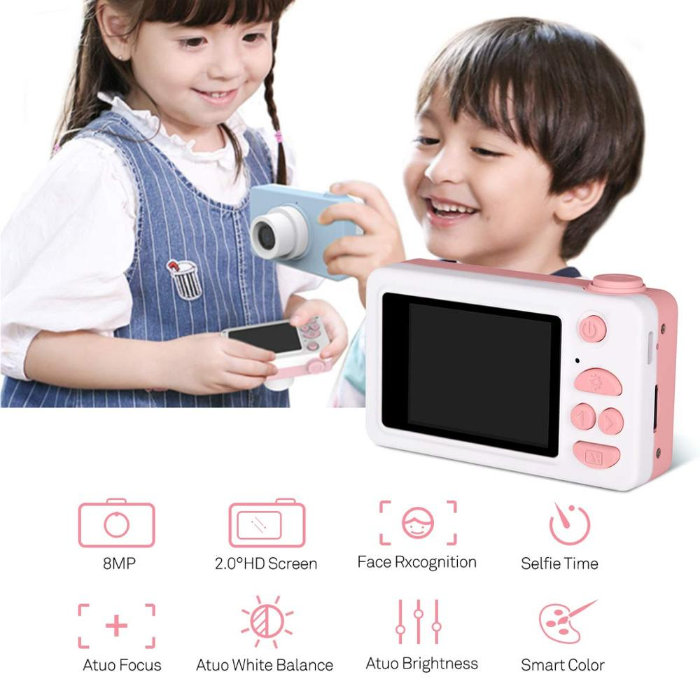 Image 5 - Digital Kids Camera Cute Cartoon Mini SLR Point Shoot Camera For Children Birthdays Gift CMOS 2inch Full HD Kids Boys Camcorders-in Point & Shoot Cameras from Consumer Electronics