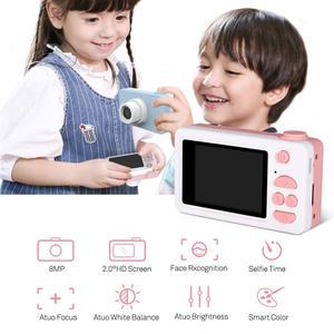 Image 5 - Digital Kids Camera Cute Cartoon Mini SLR Point Shoot Camera For Children Birthdays Gift CMOS 2inch Full HD Kids Boys Camcorders
