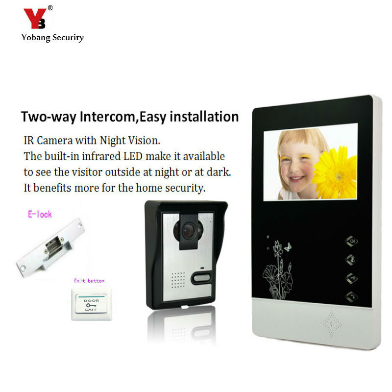 Yobang Security freeship 4.3 inch Video Door Color Video Monitor Kit Video Intercom and Video Doorbell IR camera Night Vision yobang security freeship 4 3 inch video door color video monitor kit video intercom and video doorbell ir camera night vision