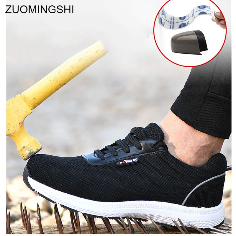 lower price with catch popular brand Light Safety Shoes Steel Toe Cap Middle Sole security Men Work ...