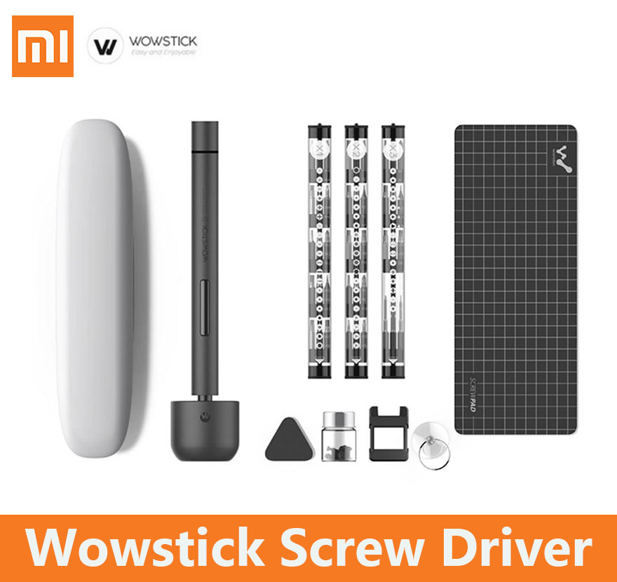 xiaomi Wowstick 1f pro electric screwdriver set 1fs Bits Tool kit Alloy Body LED Light for