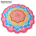 Praia toalha indiano grande lotus mandala impressão yoga mat rodada borla toalha de mesa tapeçaria cobertor hippie boho totem 150 cm/59''