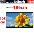 2016 new aarive 84 Inches 16:9 White glass curtain Projector Screen Suitable for HD 3D LED Smart Movie home theater Projector