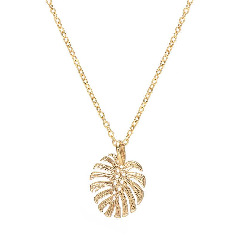 Дикие и свободные летние тропические Пальмовые Листья ожерелье для женщин Boho Гавайский Простой Привлекательный колье ожерелье s & Подвески пляжные украшения