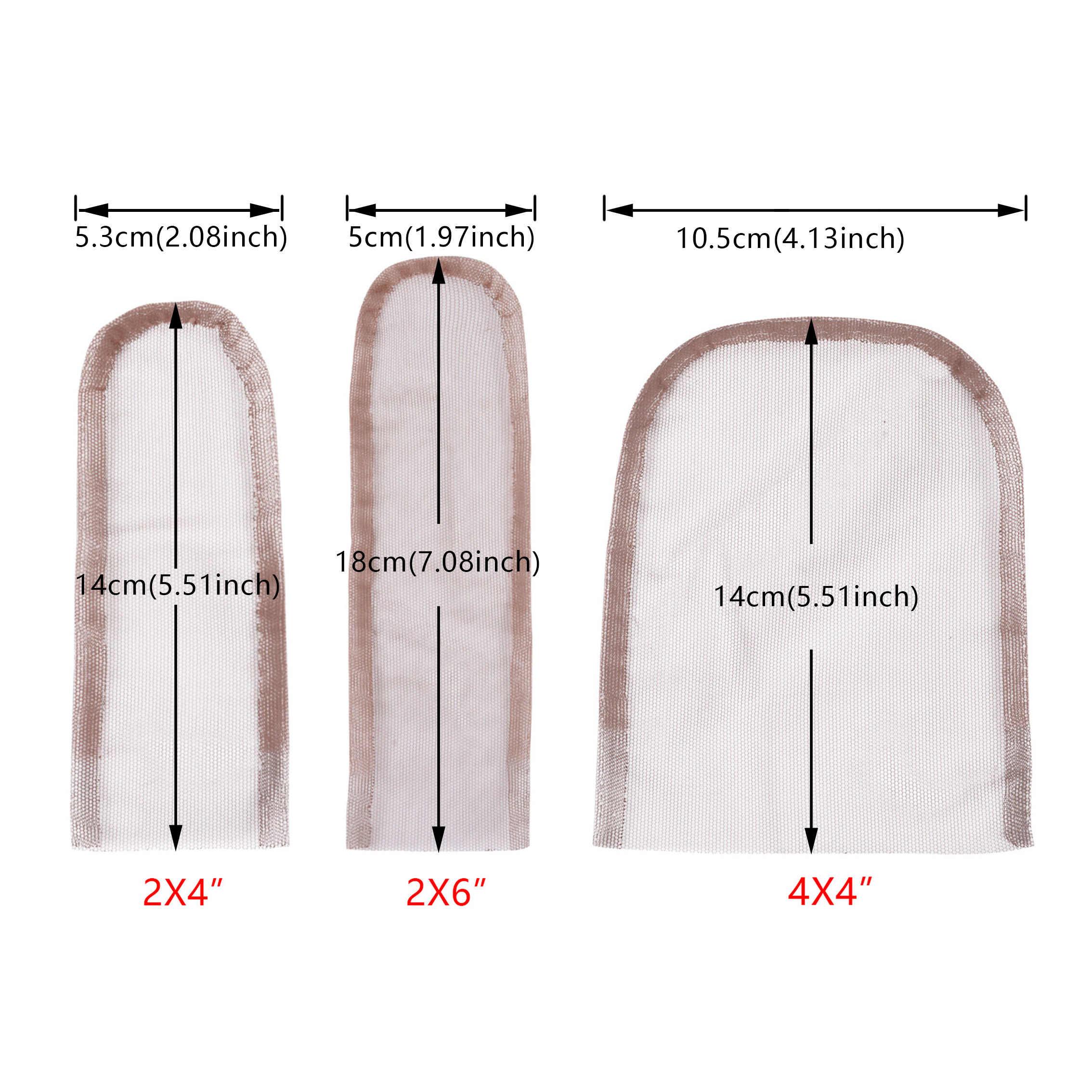 2*4 2*6 4*4 Swiss Renda Penutupan Frontal Dasar Tenunan Tangan Rambut Bersih Potongan untuk Membuat Renda Wig Topi Penutupan Wig Aksesori