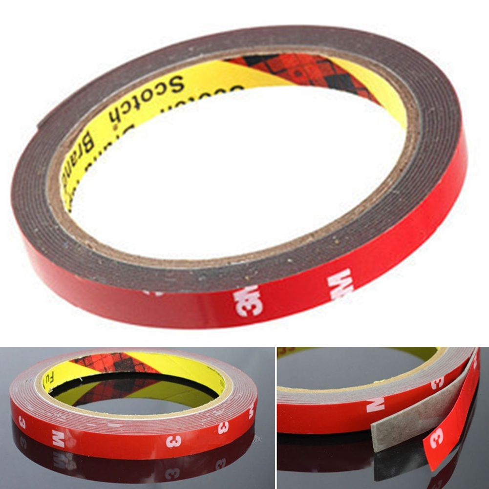Dewtreetali 2pcs 6mm*3m Double-sided Adhesive For Automobile Interior Thin Waterproof Car 3M Tape Acrylic Foam Double Sided
