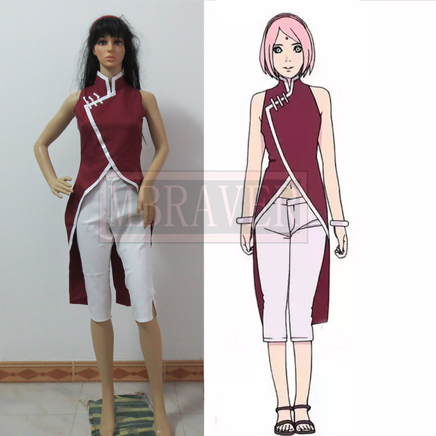 Customized New Fashion BORUTO NARUTO THE MOVIE Cosplay Costume Haruno Sakura Clothes