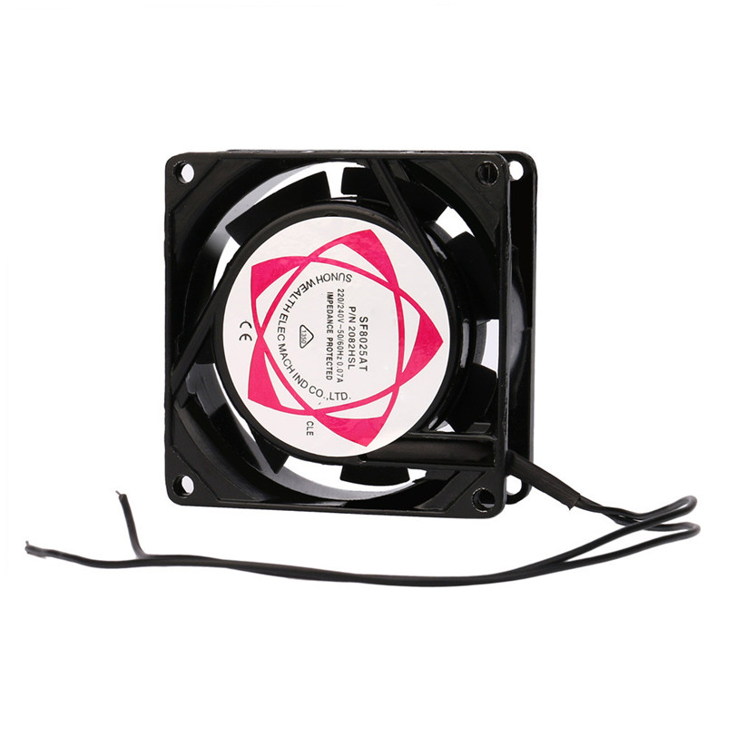 220V 240V 8cm 80mm x 80mm x 25mm AC Metal Brushless Cooling Industrial Fan Jul17 Professional Factory Price Drop Shipping ac axial fan copper coil 200fzy industrial welder cooling fan 110v 220v 380v brushless fan lf