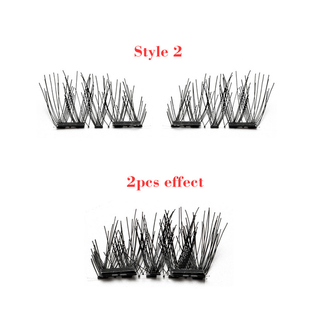 False Magnetic Eyelashes, 3D Reusable Fake 4