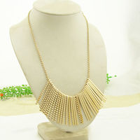 Min Order 10 Free Shipping Luxury Gold Plated Alloy Tassel Geometric Choker Chain Necklace Collar Popular