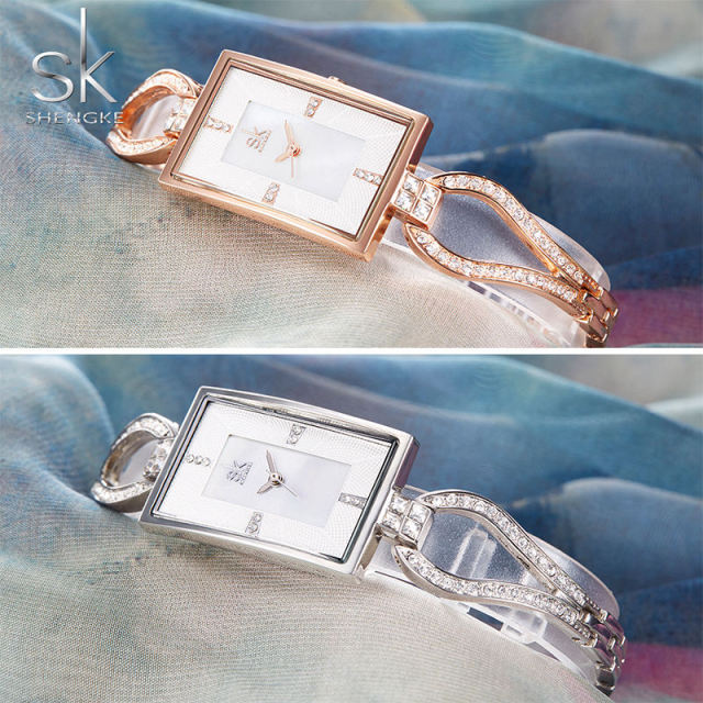 Bracelet rectangle watch