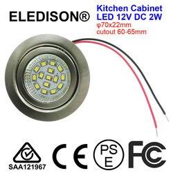 Светодиодный светильник для кухонной вытяжки, 2 Вт, монтируемый на 12 В, вход постоянного тока, вырез 60 мм, дымоотвод, кухонный вентилятор, све...