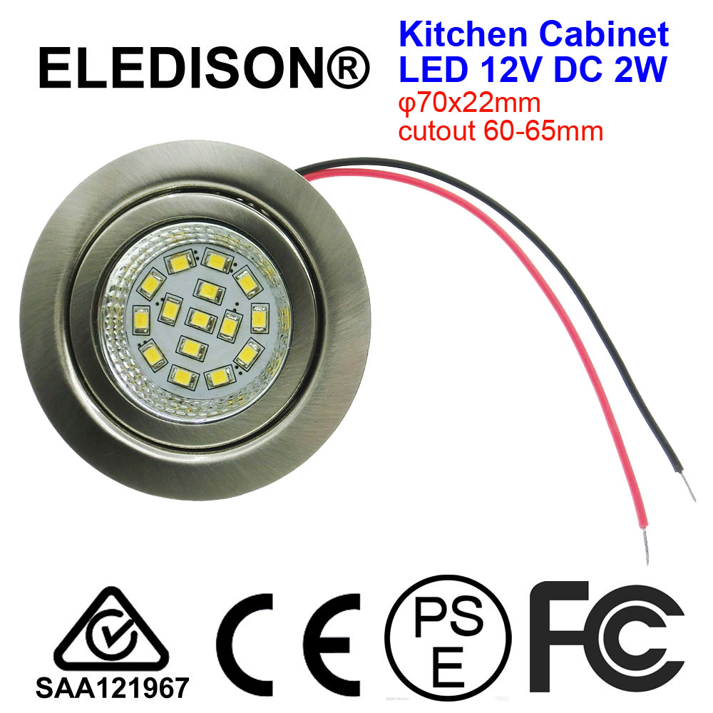 LED Kitchen Hoods Bulb Light 2W Mounted 12V DC Input Cutout 60mm Smoke Exhauster Kitchen Ventilator Lighting Lamp
