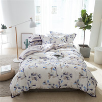 IvaRose New Pastoral Style Tencel Cotton Luxury Bedding Set Print Bed Set King Queen Bed Linens