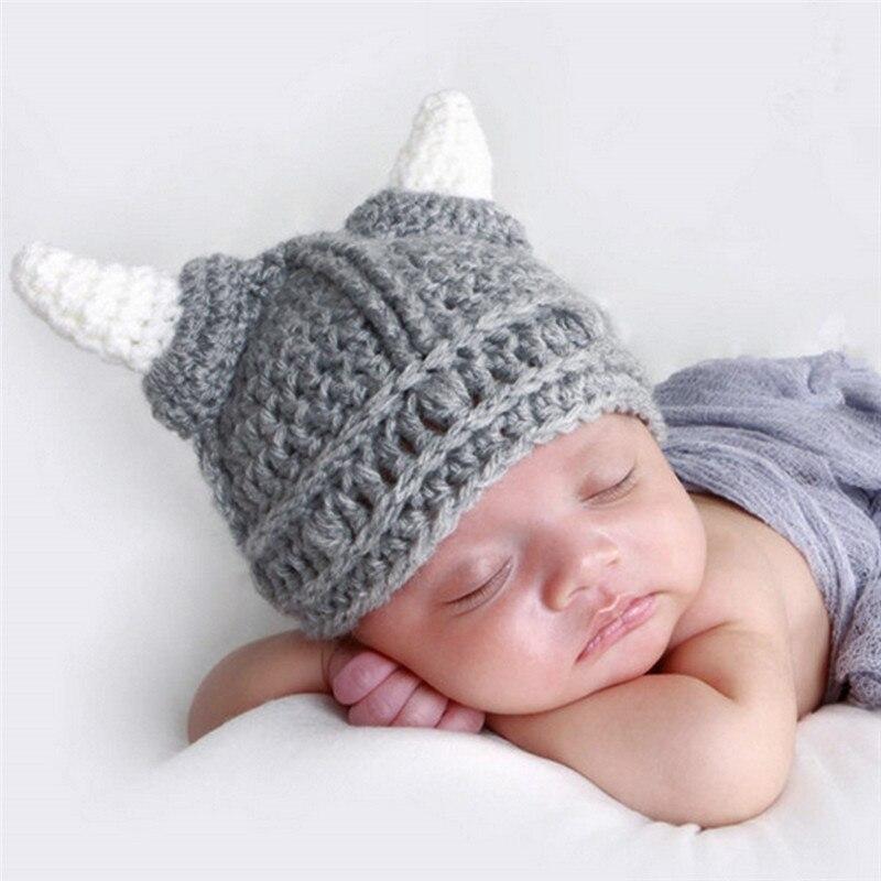 Baby Crochet Hat for Children Winter Warm Baby Boys Girls Hat Newborn Handmade Crochet Knit Beanie Cap for Photography Prop