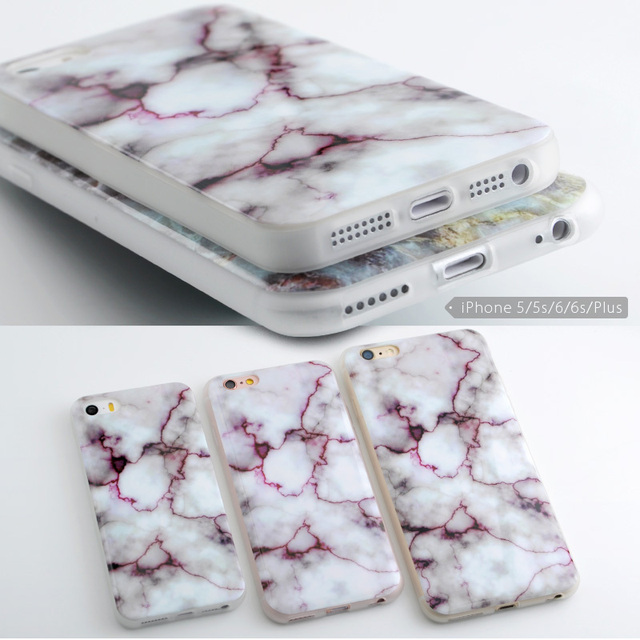 Soft TPU Case For iphone 7 7plus 5s 5 SE 6 6s 6plus – New Arrival Granite Scrub Marble Stone Painted Phone Case