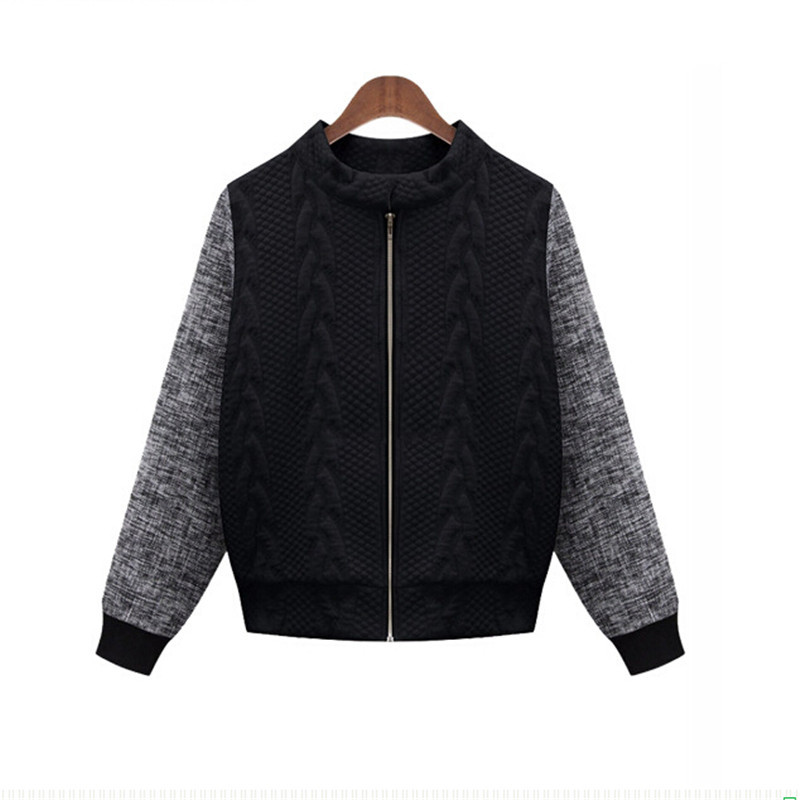 Ladies knitted bomber jacket