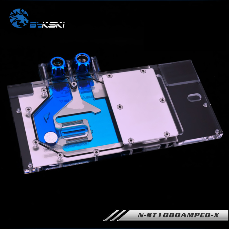 Bykski Full Cover Graphics Card Block use for ZOTAC GTX1080/1070TI/1070 AMP Edition 8GB GDDR5(ZT-P10800B-10P) RGB Radiator Block