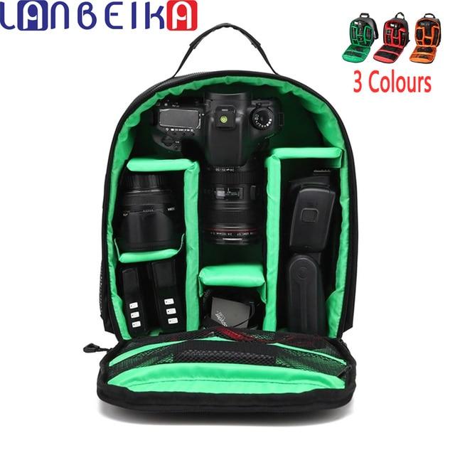 dea038c2e56e LANBEIKA Shoulders Backpack Pad Bags Shockproof Case Ordinary Waterproof  Video Tripod Rainproof Bag for Canon Nikon SLR Gopro