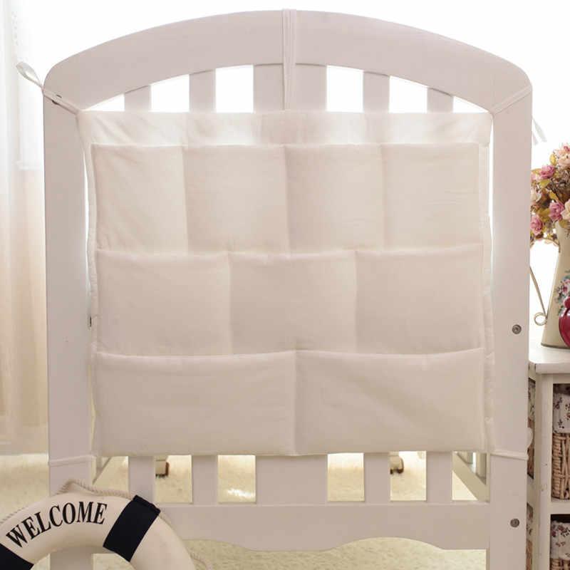 48*58 см кроватки детские накладка на перила кроватки подвесная сумка для хранения Мультифункциональный муслин детская кроватка карманная подвесная сумка для хранения детские постельное белье-бампер