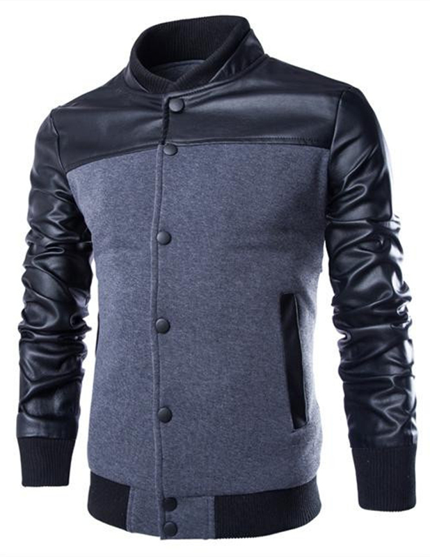 Online Buy Wholesale leather baseball jacket men from China ...