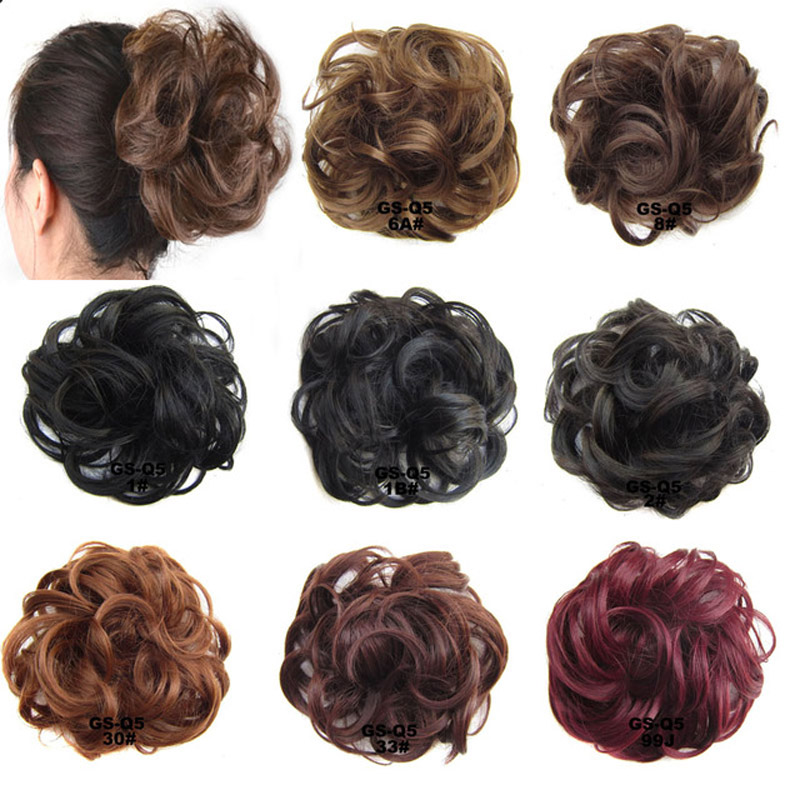 Jeedou Synthetic Hair Chignon 60g Curly Hair Bun Pad Rubber Band Chignon Chic And Trendy Hottest Hair Trends Hairpieces Synthetic Chignon Hair Extensions & Wigs
