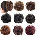 1 Pieces jeedou Synthetic Chignon Donut Gary Brown Color 30g Hair Bun Pad Chignon Elastic Hair Rope Rubber Band Hair Extensions