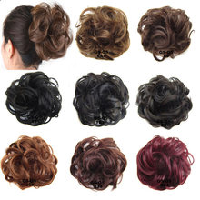 1 Pieces jeedou Synthetic Chignon Donut Gary Brown Color 30g Hair Bun Pad Chignon Elastic Hair Rope Rubber Band Hair Extensions(China)