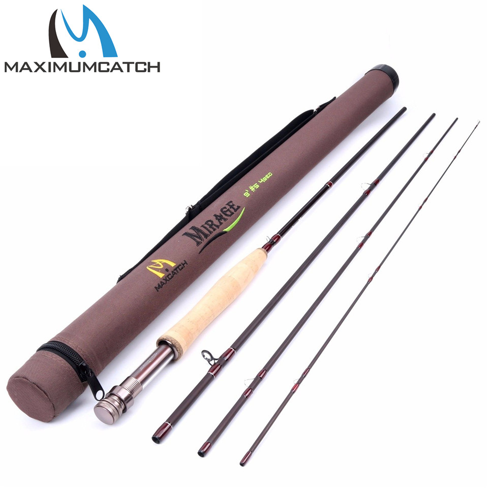 Maximumcatch 9ft 5wt fly rod 4 section medium fast action for Shipping tubes for fishing rods