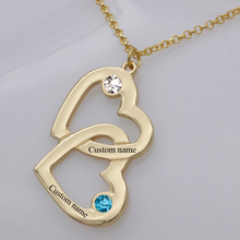 Heart in Pendant Necklace New Arrival Birthstone Men and Womens Long Necklaces Can Custom Made Any Name  YP2490