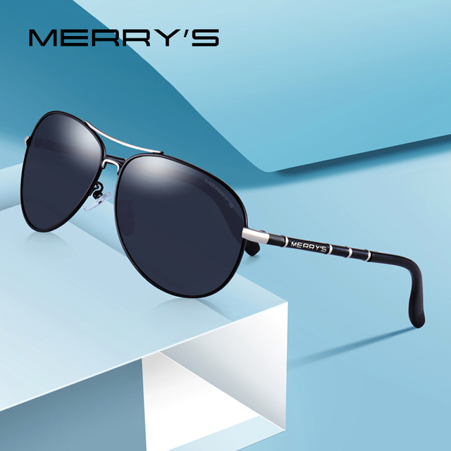 b55947d351 MERRYS DESIGN Men Classic Pilot Sunglasses HD Polarized Sunglasses For Men  Luxury Shades UV400 Protection S8766
