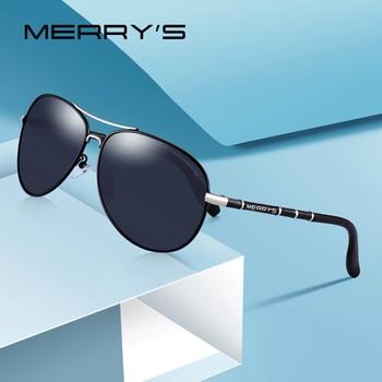 47d6200196 MERRYS diseño hombres clásico piloto gafas de sol polarizadas HD gafas de  sol para hombres lujo tonos UV400 protección S8766