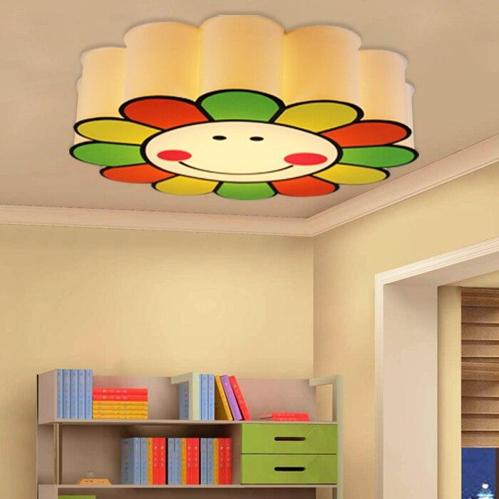 US $145.0 |Kinderzimmer licht arbeitszimmer schlafzimmer lampe warme  mädchen Deckenleuchten led deckenleuchte sonne PVC echte lampe LU625  ZL425-in ...