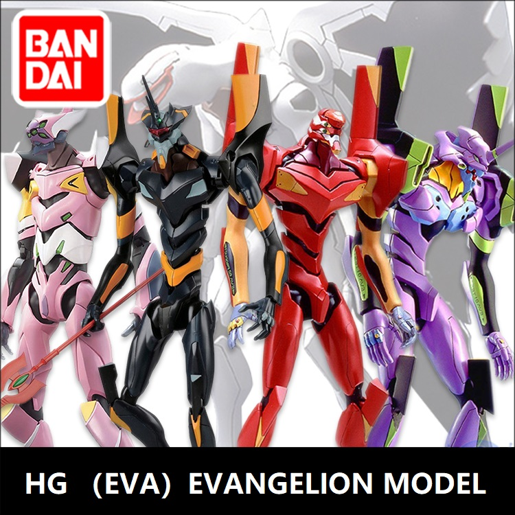 Original Gundam Model HG EVANGELION EVA-01 EVA-02  Unchained Mobile Suit Kids Toys