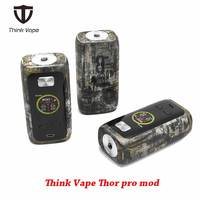 Original Think Vape Thor pro MOD 220w dual 18650 Electronic Cigarette mod VW/TC/Bypass modes TFT screen 510 thread vape mod