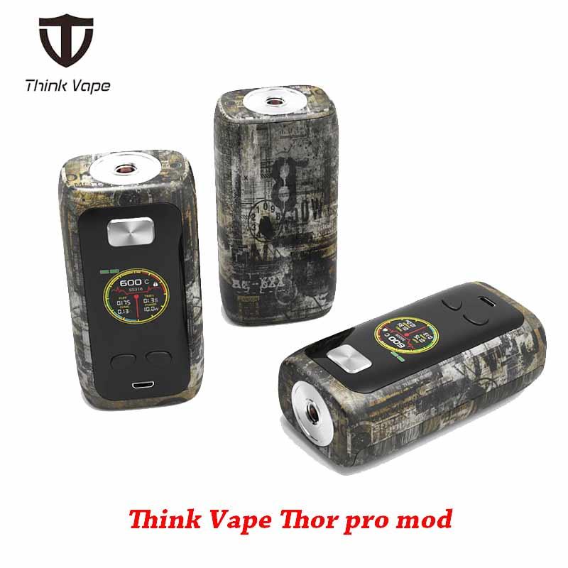 Ursprüngliche Denken Vape Thor pro MOD 220 w dual 18650 Elektronische Zigarette mod VW/TC/Bypass modi TFT bildschirm 510 gewinde vape mod