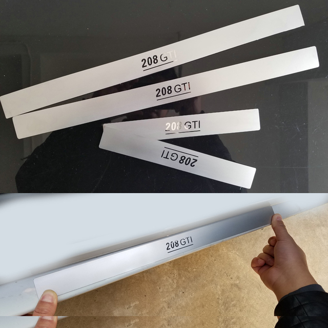 Car accessories Stainless Steel Side Door Scuff Plate Door Sill Trim Fit For Peugeot 208 2014 2015 2013
