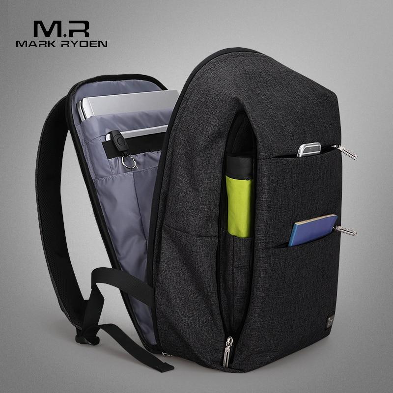 Mark Ryden nuevos hombres mochila para 15,6 pulgadas portátil mochila de gran capacidad Stundet estilo Casual mochila bolsa repelente de agua